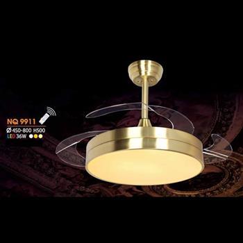 Quạt đèn Ø450 - 800 x H500, led 36W, 3 màu ánh sáng NQ 9911