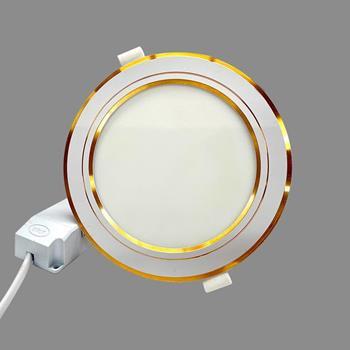 Đèn led downlight siêu mỏng viền vàng 12W NSD