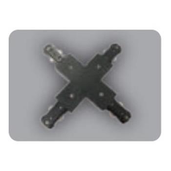 Khớp nối chữ thập thanh ray loại H màu đen NTR-4CB