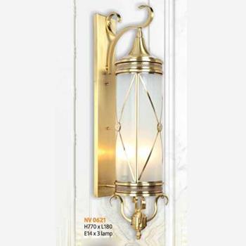 Đèn vách đồng L180 x H770, E14 x 3 lamp NV 0621