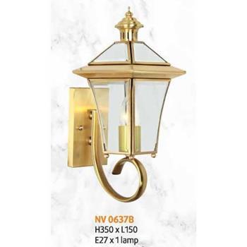 Đèn vách đồng L150 x H350, E27 x 1 lamp NV 0637B