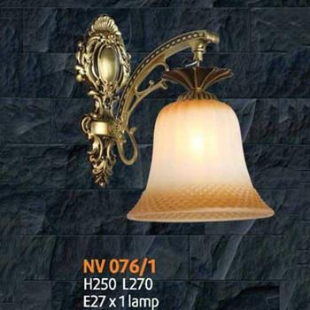 Đèn vách E27 x 1 lamp, L270 x H250 NV 076/1
