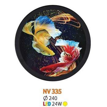 Đèn vách tranh tròn led 24W Ø240, ánh sáng vàng NV 335