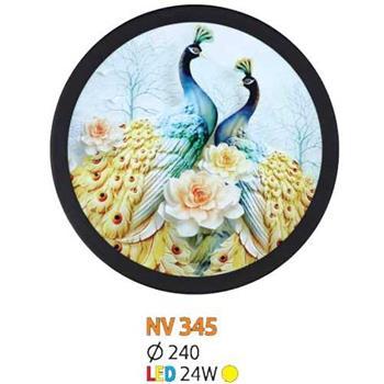 Đèn vách tranh tròn led 24W Ø240, ánh sáng vàng NV 345