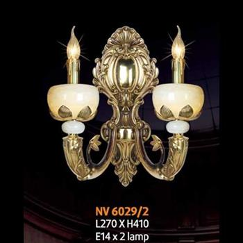 Đèn vách đồng L270 x H410, E14 x 2 lamp NV 6029/2