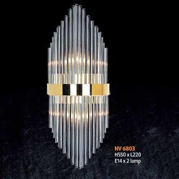 Đèn vách pha lê L220 x H550, E14 x 2 lamp NV 6803