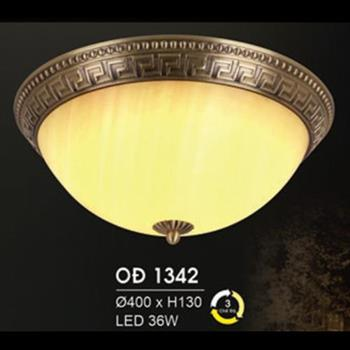 Đèn Ốp Trần Đồng Ø400*H130 Led 36W, 3 chế độ ánh sáng OĐ 1342