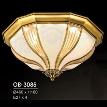 Đèn Ốp Trần Đồng Ø460*H160, E27*4 OĐ 3085