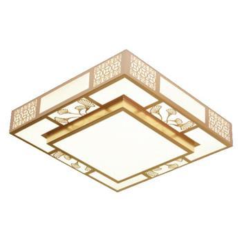 Đèn Ốp Trần Gỗ Ø500*H120, Led 80W, 3 chế độ ánh sáng OTG 21