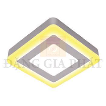 Đèn Mâm Ốp Nổi Vuông Viền Vàng Led Panel 3 Chế Độ OTX