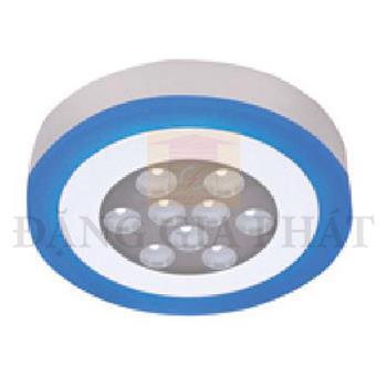 Đèn Mâm Ốp Nổi Tròn Viền Xanh Led Panel 3 Chế Độ OTX