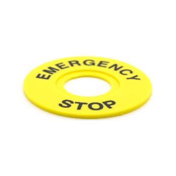 Nhãn tên cho nút nhấn khẩn cấp Ø22 OMG-ER60