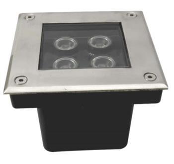 Bộ đèn âm sàn  4 x 1W  3000K PRGS4L
