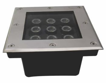 Bộ đèn âm sàn 9 x 1W PRGS9L