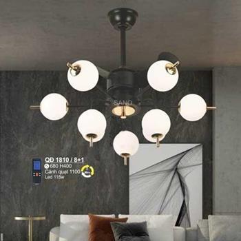 Quạt đèn Sano Led 115W, cánh quạt 1100, Ø680*H400, 3 màu, có remote Q 1810/8+1