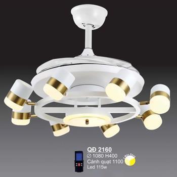 Quạt đèn sano led 115W Sano - Ø1080*H400mm QĐ 2160
