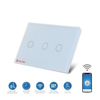 Bộ 3 công tắc cảm ứng Rạng Đông Wifi RD SW.03.WF