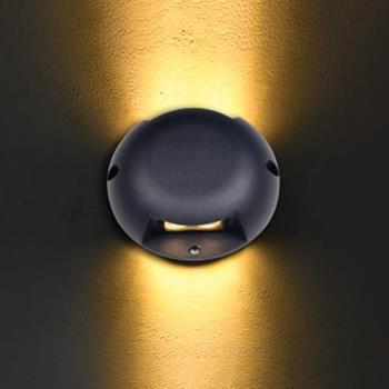 Đèn âm sàn chiếu sáng 2 Mặt 3W*2 Ø120*H40, AC: 85->265V SN-02