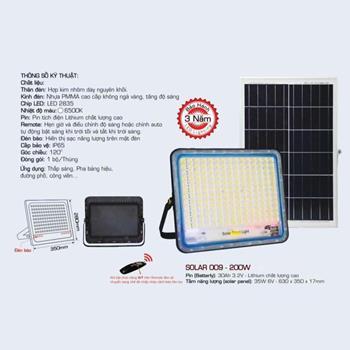 Đèn pha Led Anfaco SOLAR 009 200W SOLAR 009 - 200W