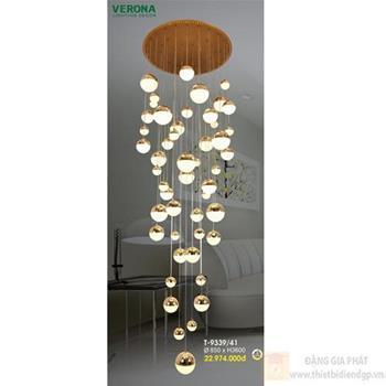 Đèn thả Verona Ø850 x H3600, ánh sáng 3 chế độ T-9339/41