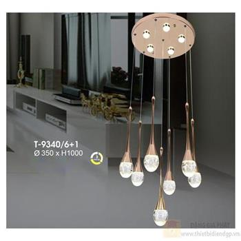 Đèn thả Verona Ø350 x H1000, ánh sáng 3 chế độ T-9340/6+1