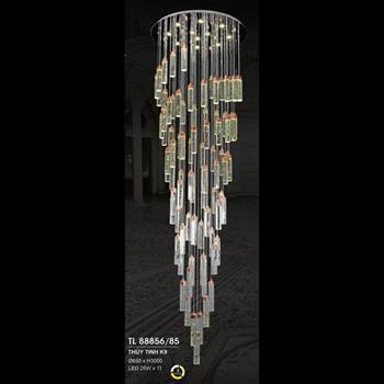 Đèn thả thủy tinh K9 Ø650*H3000 LED 25W*11, 3 chế độ ánh sáng TL 88856/85