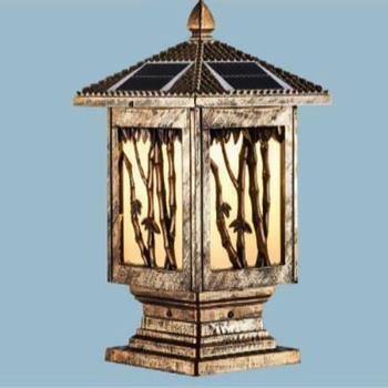Đèn trụ cổng năng lượng mặt trời vuông E27-Led 5W, ánh sáng vàng TNL-14