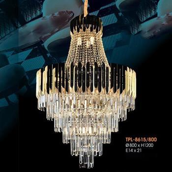 Đèn thả pha lê Verona Ø800 x H1200, E14 x 21 TPL-8615/800