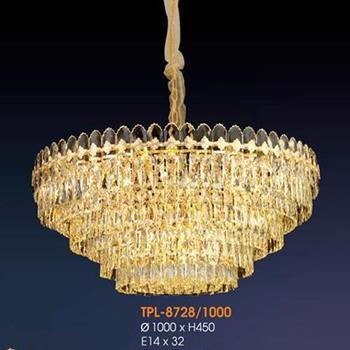 Đèn thả pha lê Verona Ø1000 x H450, E14 x 32 TPL-8728/1000