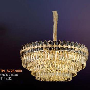 Đèn thả pha lê Verona Ø800 x H340, E14 x 22 TPL-8728/800