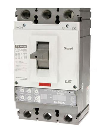 """Thiết bị đóng cắt chống rò điện MCCB 3P 400A 65KA ETS:E.trip units: chỉnh 13 bước từ 0.4""""->1"""" TS400N ETS33 3P"""