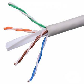 Dây cáp mạng Cat 6 UTP 10% Cu màu trắng NC6-U10W