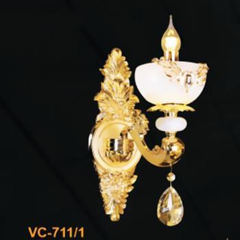 Đèn Vách Nến Hợp Kim, Chao Đá L250*W300*H420, E14 VC-711/1