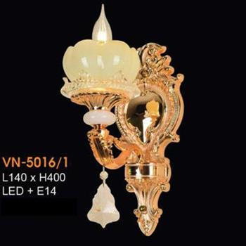Đèn vách nến chao đá ngọc Verona L140xH400, LED + E14 VN-5016/1