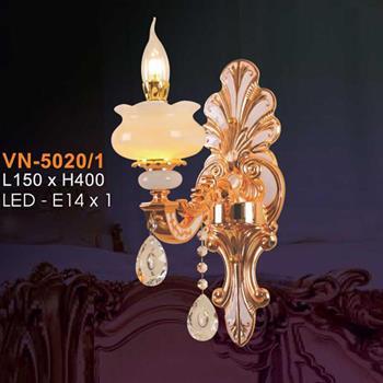 Đèn vách nến chao đá ngọc Verona L150xH400, LED - E14x1 VN-5020/1