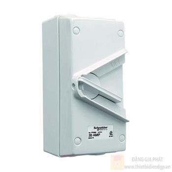 Ngắt Điện Phòng Thấm Nước 1P 250V IP66 WHS20_GY_G19