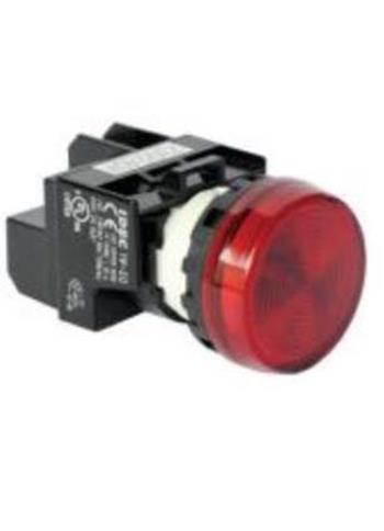 Đèn báo phẳng, bóng Led, 220VAC/DC, Ø22, Hổ phách YW1P-1EQM3A