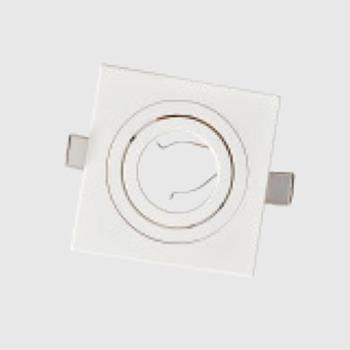 Chóa đèn âm trần đơn, vuông Zenia ZAL005-S1/WH26