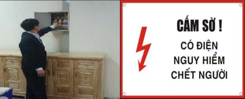 Ngắt thiết bị bảo vệ khi cần sửa chữa hay lắp thiết bị điện mới