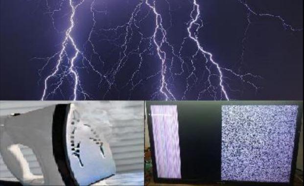 Sấm chớp , mƣa bão dễ làm hỏng thiết bị điện