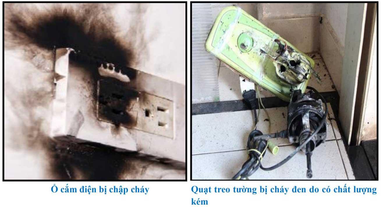 Ổ cắm điện bị chập cháy