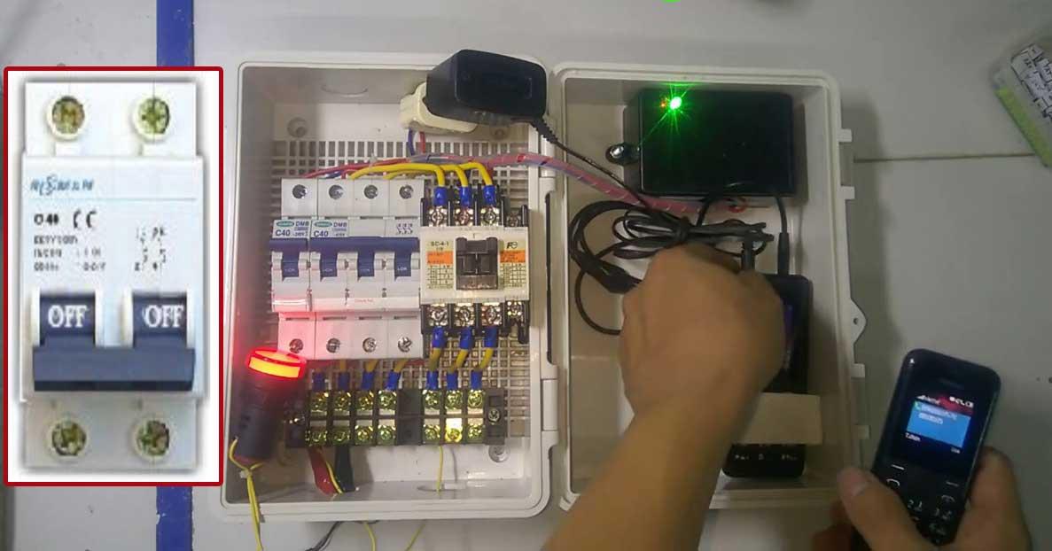 Phải đóng thiết bị bảo vệ trƣớc khi chạm vào ổ điện