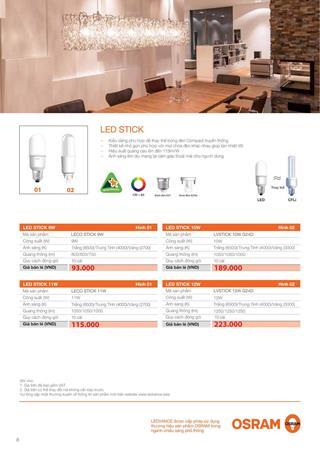 Bảng Giá Đèn LED OSRAM (LEDVANCE) tháng 4/2021